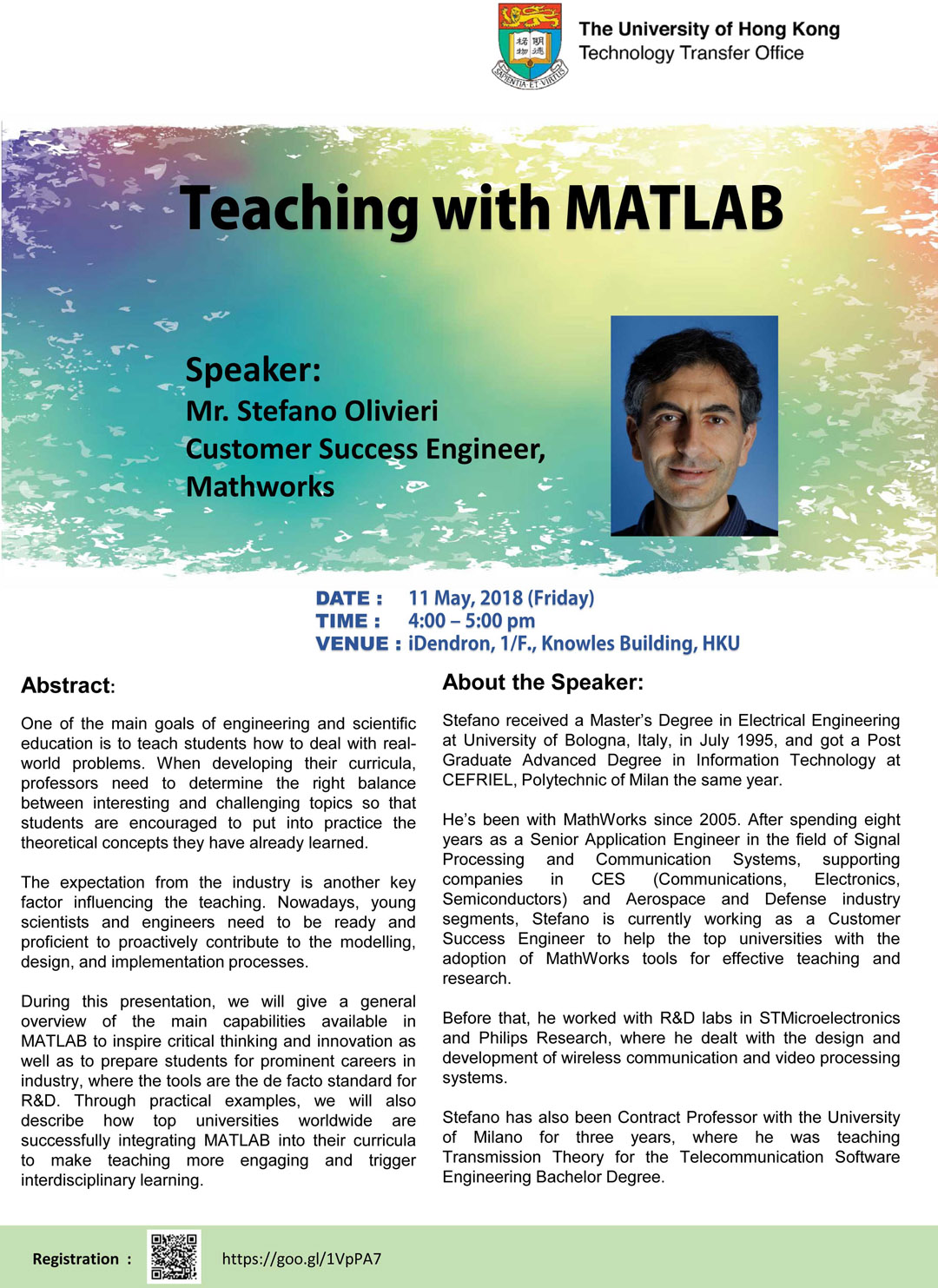 Teaching with MATLAB by Mr  Stefano Olivieri | iDendron
